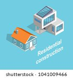 residential construction two... | Shutterstock .eps vector #1041009466