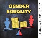 gender inequality concept... | Shutterstock .eps vector #1041014152