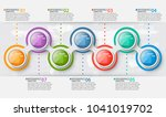 vector abstract 3d paper... | Shutterstock .eps vector #1041019702