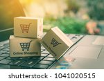 online shopping   ecommerce and ... | Shutterstock . vector #1041020515