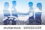business of japan concept. | Shutterstock . vector #1041021235