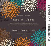 wedding card or invitation with ... | Shutterstock .eps vector #104103155