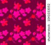 boho pattern. watercolor... | Shutterstock . vector #1041033052