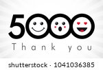 thank you 5000 followers... | Shutterstock .eps vector #1041036385