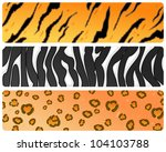set of three banners with...   Shutterstock . vector #104103788