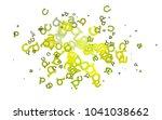 light blue  yellow vector...   Shutterstock .eps vector #1041038662
