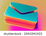 colourful envelope icon on... | Shutterstock . vector #1041041422