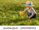 portrait of toddler child...   Shutterstock . vector #1041046942