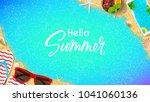 hello summer web banner... | Shutterstock .eps vector #1041060136