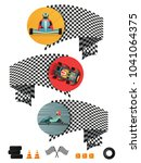 kart racing concept set with... | Shutterstock . vector #1041064375