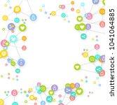 social media marketing ... | Shutterstock .eps vector #1041064885