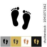 human black silhouette foot... | Shutterstock .eps vector #1041071362