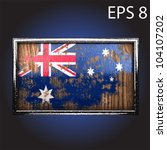flag on old wood made in vector | Shutterstock .eps vector #104107202