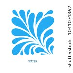 water wave logo abstract design.... | Shutterstock .eps vector #1041074362