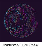 moving colorful lines of... | Shutterstock .eps vector #1041076552