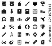 flat vector icon set   book... | Shutterstock .eps vector #1041078868