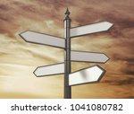signpost  road  sign. | Shutterstock . vector #1041080782