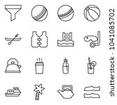 flat vector icon set   funnel... | Shutterstock .eps vector #1041085702