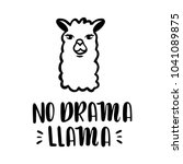 nodrama llama vector quote with ... | Shutterstock .eps vector #1041089875