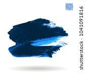 blue brush stroke and texture.... | Shutterstock .eps vector #1041091816
