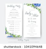 wedding floral wedding party  ... | Shutterstock .eps vector #1041094648