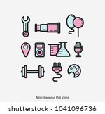 miscellaneous flat line icon... | Shutterstock .eps vector #1041096736