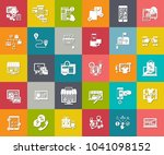 e commerce and shopping icons ... | Shutterstock .eps vector #1041098152