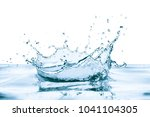 water splash with reflection ... | Shutterstock . vector #1041104305