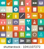 audio sound music icons  music... | Shutterstock .eps vector #1041107272