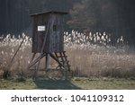 perch hunter field | Shutterstock . vector #1041109312