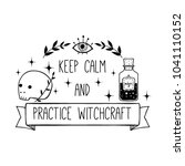vector witch magic design print ... | Shutterstock .eps vector #1041110152