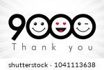 thank you 9000 followers... | Shutterstock .eps vector #1041113638