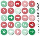 arrow sign icon set vector... | Shutterstock .eps vector #1041114145