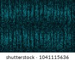 binary computer code. abstract... | Shutterstock .eps vector #1041115636