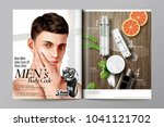 men's cosmetic magazine... | Shutterstock .eps vector #1041121702