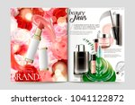 cosmetic magazine template ... | Shutterstock .eps vector #1041122872