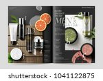 cosmetic magazine template ... | Shutterstock .eps vector #1041122875