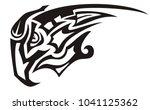 tribal peaked black and white... | Shutterstock .eps vector #1041125362