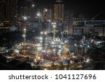 building construction site at... | Shutterstock . vector #1041127696