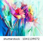 abstract colorful oil painting... | Shutterstock . vector #1041139072