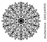 mandala vector design element.... | Shutterstock .eps vector #1041144955