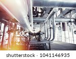 equipment  cables and piping as ... | Shutterstock . vector #1041146935
