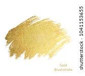 vector gold paint smear stroke... | Shutterstock .eps vector #1041153655