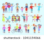 smiling people of different age ... | Shutterstock . vector #1041154066