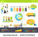 collecting garbage infographic... | Shutterstock . vector #1041154462