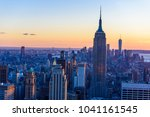 new york city   usa. view to... | Shutterstock . vector #1041161545