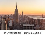 new york city   usa. view to... | Shutterstock . vector #1041161566