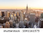 new york city   usa. view to... | Shutterstock . vector #1041161575