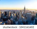 new york city   usa. view to... | Shutterstock . vector #1041161602