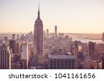 new york city   usa. view to... | Shutterstock . vector #1041161656